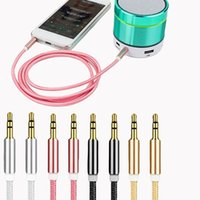 aux cable jack 3.5mm male to male aux Audio cable 1M Aluminum Alloy Gold Plated Plug nylon wire for car headphone MP4 3