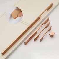 Manijas tiras de oro rosa guardarropa manija gabinete cajón zapatero muebles extendidos hardware