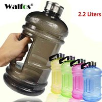 WALFOS 2.2L Big Large Capacity Water Bottles Outdoor Sports Fitness Training Camping Running Workout Water Bottle Drinkware 210409