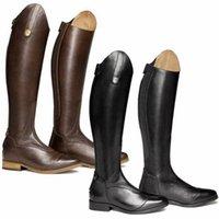 Fashion Winter PU Leather Women Shoes Knee High Zipper Womens Designer Boots Riding Low Heels Botas De Mujer ZQ0442 211020