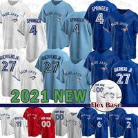 Toronto Mens Blue Jays Women 4 George Springer Custom 27 Vladimir Guerrero Jr. Baseball Jersey 11 George Bell 55 Russell Martin 20 Donaldson