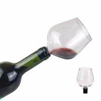 Kreativer Rotweinstopper bleifreier Champagnerglas mit Weinflasche Tragbare Küchenwerkzeug 500ml Haushalt Kreatives Weinglas RRD6783