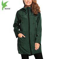 Damengrabenfeder Hoodies Plus Size Slim Weibliche Wasserdichte Regenmantel Top Windjacke Frauen Mantel Mehrfarbig 1952