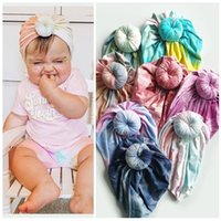 Hair Accessories Cute Knotted Baby Headband Accessoires Kids Spring Autumn Soft Cotton Tie-Dye Turban Hat Band Girl