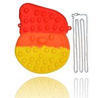 DHL FREE 2021 Newstyle Toys Santa Claus head Coin Purse Bubble Decompression Silicone Sensory Fidget toy YT199505