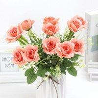 الزهور الاصطناعية الحرير الفاوانيا روز المزهريات الزفاف ل ديكور المنزل النباتات وهمية الحرفية باقة diy الهدايا اكسسوارات العروس رغوة Y3B4 ديكور