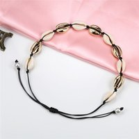 Chokers Fashion Women Necklace Boho Sea Shells Clavicle Collar Pendant Chain Choker Beach Jewelry Gift Femme Natural Accessorie