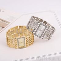 Europäische und amerikanische Explosionsmodelle Breitband Damen Armbanduhr Square Platte Full Diamond Luxus Mode Armbanduhren