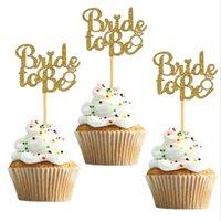 10шт Goldsilver Blitter Bredist, чтобы быть точкой Топперы Cakecup Bridal Душ Свадебный декор Bachelorette Party Cake Украшения инструментов