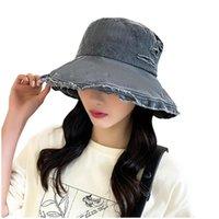 Взрослая мода печать солнечные шляпы рыбацкий бассейн открытый ведро Sunbonnet Fedoras рыбацкий пляжный колпачок широкие Breim Hats