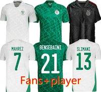 Fans Versão Jogador Algerie 2020 2021 Home White Away Green Soccer Jerseys Mahrez Feghouli Bennacer Atal 20 21 Argélia Kits de Futebol