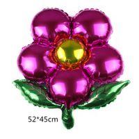 Весенний цветочный горшок сформировал пять лепесток подсолнечника алюминиевая пленка воздушный шар украшения вечеринки