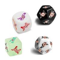 SM 성인 장난감 커플 게임을위한 장난감 재미있는 섹스 주사위 12면 로맨스 사랑 유머 도박 에로틱 한 크랩 더블 돌 바 쌍 0915