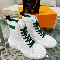 2021 Erkek Kadın Tasarımcıları Yüksek Üst Çizmeler Yeşil Pembe Bicolor Tıknaz Sneakers Marka Squad Sneaker Rahat Kauçuk Outsole Casual Boot ile Kutusu Boyutu35-45