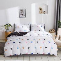 Nordic Style Love Stars Comforter Bedding Sets Cute Cat Sanding Bed Kit Sheets 2021 Gift Twin Set CN(Origin)