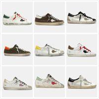 새로운 스타일 이탈리아 디럭스 브랜드 골든 스니커즈 슈퍼 스타 스팽글 클래식 화이트 DOO - 오래 된 더러운 신발 거위 디자이너 남자 캐주얼 신발