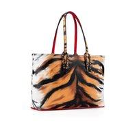 Bolsas de las mujeres 2pic Doodling Designer Bolsos Totes Composite Color Rojo Fondos Bolso Bolso de cuero genuino Bolso de hombro