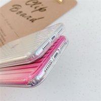 Laser Gradient Colorful Phone Case For iphone 13 11 12 11 Pro Max XR XS Max X 7 8 Plus 12 Pro SE 2 Hard PC Transparent Stripe Cover