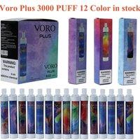 Voro Plus Dispositivo de cigarrillo vapeable desechable recargable con la batería de la luz de RGB de 650mAh de la batería de 4,8 ml Preumente 3300 Puffs Kit de vapes brillantes