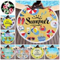 Пляжные полотенца Тропический Напечатанный Большой Открытый Кемпинг Пикник Микрофибры Круглый Ткань Банное Полотенце Для Гостиной Дом Декоративные 11 Стили