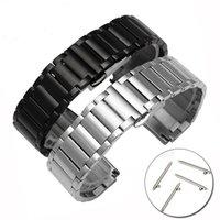 Watch Bands 20mm 22mm Stainless Steel Metal Strap For Samsung Galaxy 46mm Watchband SM-R800 SM-R180 Huawei Garmin Men Women