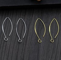 Pair Solid 925 Sterling Silver Earring Hook Ear Wires Findings DIY For Women A1529 Dangle & Chandelier