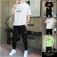 Court-shirts Pantalons de loisirs Ensembles Hommes Chinois Style Summer Col Vêtements 2021 Ensembles de deux pièces Converses Tracksuit Homme Jogger Tracksuit