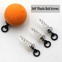 Vissen Accessoires 10 stks Karper Micro Haak Ring Swivel Schroef voor Rolling Met D-Rig Chos Rig Tackle