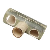 Cat Beds & Furniture 1pc Small Pet Bamboo Tube Tunnel Hamster For Pets (Random Color)