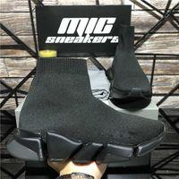 Top Qualitätspaare Mode Designer Schuhe Frauen Geschwindigkeit 2 .0 Sneakers Männer Damen Triple S Black White Outdoor Platform Socken Casual Trainer