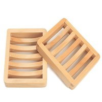Natural wooden soap dish tray holder storage soaps rack plate boxes container for bath shower
