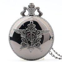 ساعات الجيب 4 أنماط الكلاسيكية البرونزية الكوارتز ساعة قلادة خمر قلادة ساعة هدية فوب مجوهرات اكسسوارات