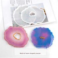 Epoxy Resin Silicone Molds Irregular Silicone DIY Wave Coaster Mold Handmade DIY Crafts Coaster Plate Silica Gel Mold DAP416