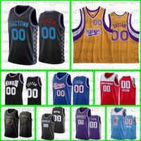 Kundenspezifische Nähte Basketball Jersey Männer Frauen Jugend 5 Fuchs 55 Williams 4 Webber Neiner Name und Nummer 2021-22 City Jerseys S-6XL