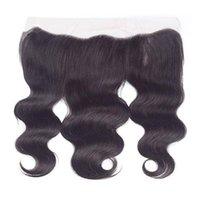 13 * 4 레이스 정면 폐쇄 브라질 인간의 머리카락 전면 자연 블랙 프리 플럭스 헤어 라인 표백 매듭 130 % 밀도