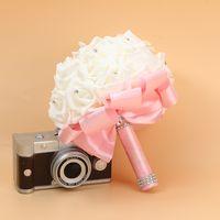 Gelin Düğün Buket Köpük Yapay El Yapımı Çiçek Hediye Yapay Çiçekler El Buketi Gül Gelin Düğün Malzemeleri RRD7327