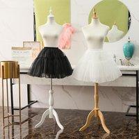 Skirts Meetlife White Black Petticoat Puffy Tulle Crinoline Hoop Skirt Underskirt Lolita Wedding Ballet Pettiskirts