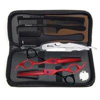 """Ножницы для волос 6,0 """"Японские стальные парикмахерские прореживающие ножницы двойные боковые зубы левша парикмахерские"""