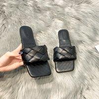 Lucyever 2021 Neue Mode Weberei Sommer Hausschuhe Frauen Casual Open Tehe Flache Sandalen Frau Komfortable Strand Folien Flip Flops