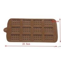 Dining Silikonform 12 Sogar Schokoladenform Fondant Formen DIY Candy Bar Form Kuchen Dekoration Werkzeuge Küche Backen Zubehör FWE6288