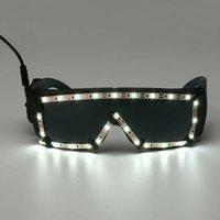 White LED Glasses Light Up Glow Sunglasses Eyewear Shades Nightclub Party Decor