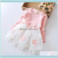 Clothing Baby, & Maternitytoddler Kids Baby Girl Clothes Long Sleeve Tulle Patchwork Flower Bow Dresses Party Birthday Casual Dress For Girl