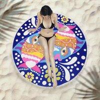 Mandala Beach Towel Round Beach Blanket Polyester Printed Tablecloth Bohemian Tapestry Yoga Mat Covers Shawl Wrap Picnic Rug150CM