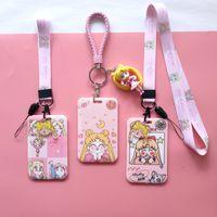 yutong Japan Korea Cute Heart Wallet Pretty Girl Sailor Moon Tsukino Usagi Holder Card Case Key Chain Pendant