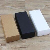 Gift Wrap 10pcs White Kraft Paper Cardboard Box Craft Packaging Black With Lid Carton