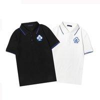 2021 Erkek Panelli Baskılı Polos Casual Gömlek Yaz Nefes Erkek Basit Tasarım Kısa Kollu Tees # Lüks Ürünler