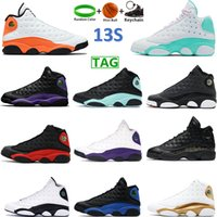 Air Jordan 13 Classic Personnalités Chaussures de Basketball Noir Island Green Court Violet Hyper Royal Rose Bred Moments Moments Gold Glitter Femmes Sports Sports Sports