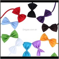 Apparel Home & Gardenadjustable Pet Bow Dog Tie Collar Flower Aessories Decoration Pure Color Bowknot Necktie Grooming Supplies Owc3258 Drop