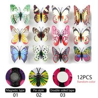 Wall Stickers 12pcs Colorful Luminous Sticker Butterfly Night Light Wedding Decorative For Kid Glow In Dark Home