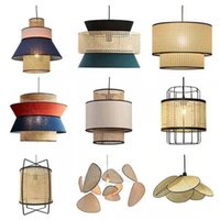 Nordic Modern Rattan Pendant Lights Lamp Kitchen Bedside Hanginglamp Loft Dinning Room Bar Cafe Restaurant Lighting Fixtures Lamps